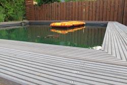 Schwimmteich unseres Reihenhauses